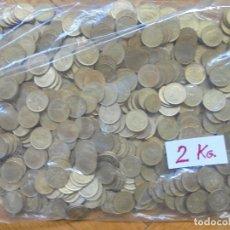 Monedas Juan Carlos I: BOLSA CON 2 KILOGRAMOS DE PESETAS(RUBIAS) DE JUAN CARLOS I. SIN CLASIFICAR POR FECHAS..CHILENA?. Lote 277645728