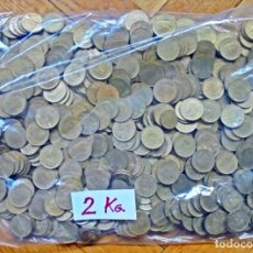 Monedas Juan Carlos I: BOLSA CON 2 KILOGRAMOS DE PESETAS(RUBIAS) DE JUAN CARLOS I. SIN CLASIFICAR POR FECHAS..CHILENA?. Lote 277646388