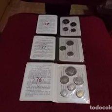 Monedas Juan Carlos I: 3 CARTERAS MONEDAS AÑOS 76-77 Y 79 FABRICA NACIONAL DE MONEDA Y TIMBRES. Lote 278454353