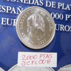 Monedas Juan Carlos I: MONEDA DE PLATA (S/C) DE 2.000 PESETAS 1999. AÑO SANTO COMPOSTELANO. XACOBEO 1999.. Lote 279853998