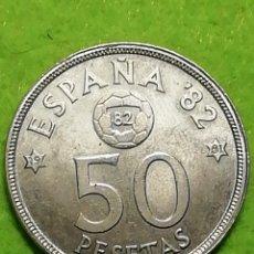 Monedas Juan Carlos I: 50 PESETAS DE 1980. ESTRELLA 81. DEL MUNDIAL DE FÚTBOL BARCELONA 82.. Lote 282081593