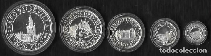 ESPAÑA. IV SERIE QUINTO CENTENARIO DESCUBRIMIENTO DE AMERICA. PLATA (Numismática - España Modernas y Contemporáneas - Juan Carlos I)