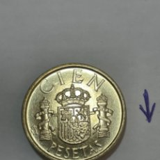 Monedas Juan Carlos I: 100 PESETAS 1990 SIN CIRCULAR. LIS AL REVERSO. Lote 288489488