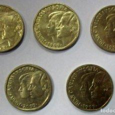 Monedas Juan Carlos I: CONJUNTO DE 5 MONEDAS DE 500 PESETAS DEL REY JUAN CARLOS I. LOTE 3892. Lote 288604128