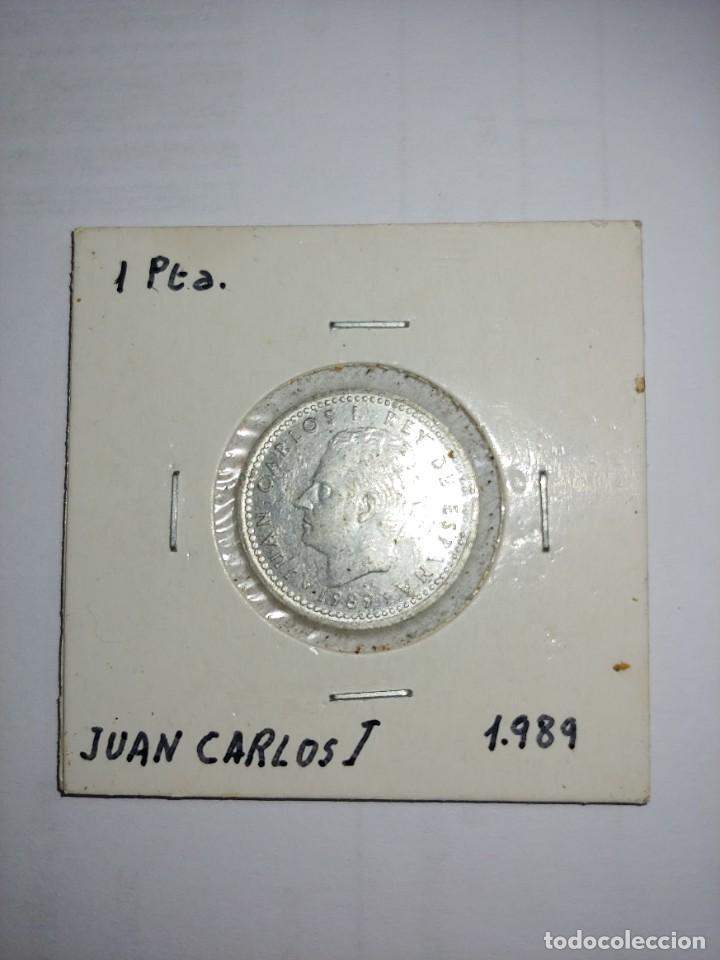 MONEDA DE JUAN CARLOS I 1 PESETA DEL AÑO 1989 (Numismática - España Modernas y Contemporáneas - Juan Carlos I)