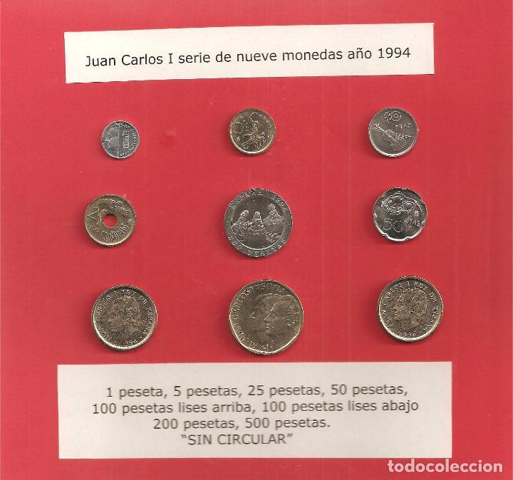 JUAN CARLOS I SERIE COMPLETA 1994 (Numismática - España Modernas y Contemporáneas - Juan Carlos I)