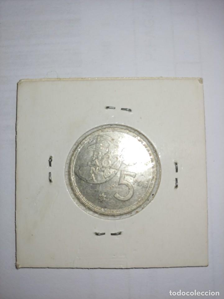 Monedas Juan Carlos I: MONEDA DE JUAN CARLOS I 5 PESETAS DEL AÑO 1980 ESTRELLA 81 - Foto 2 - 288958693