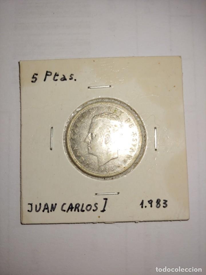 MONEDA DE JUAN CARLOS I 5 PESETAS DEL AÑO 1983 (Numismática - España Modernas y Contemporáneas - Juan Carlos I)
