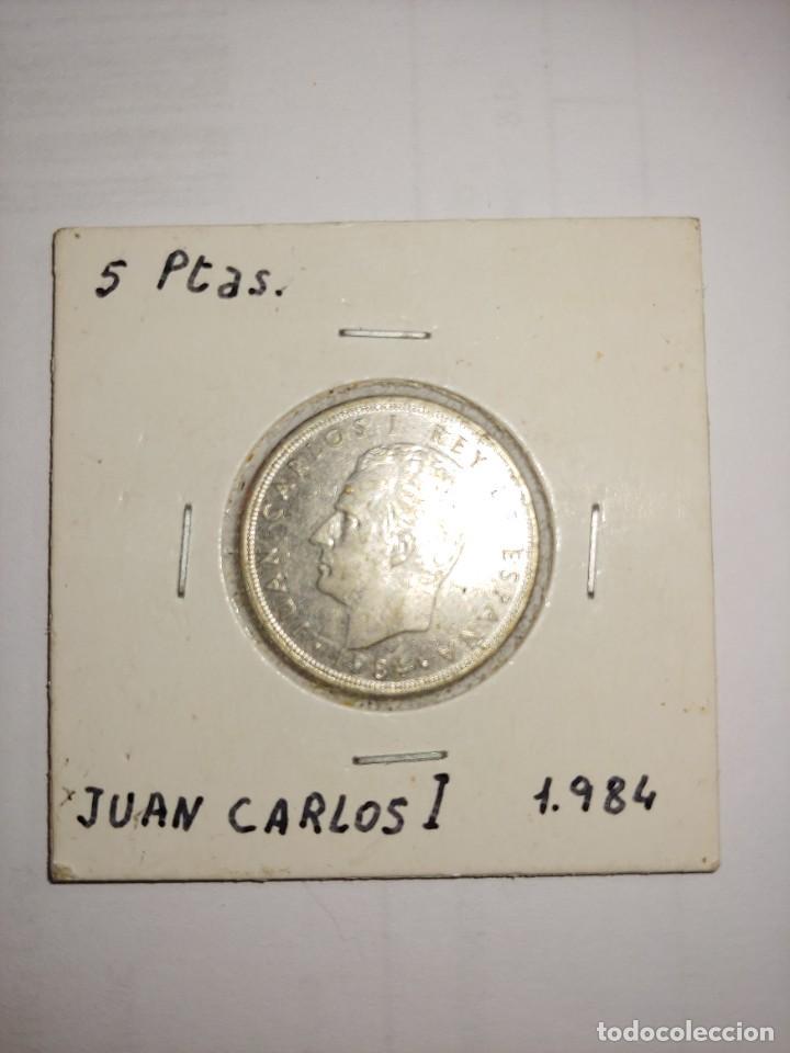 MONEDA DE JUAN CARLOS I 5 PESETAS DEL AÑO 1984 (Numismática - España Modernas y Contemporáneas - Juan Carlos I)