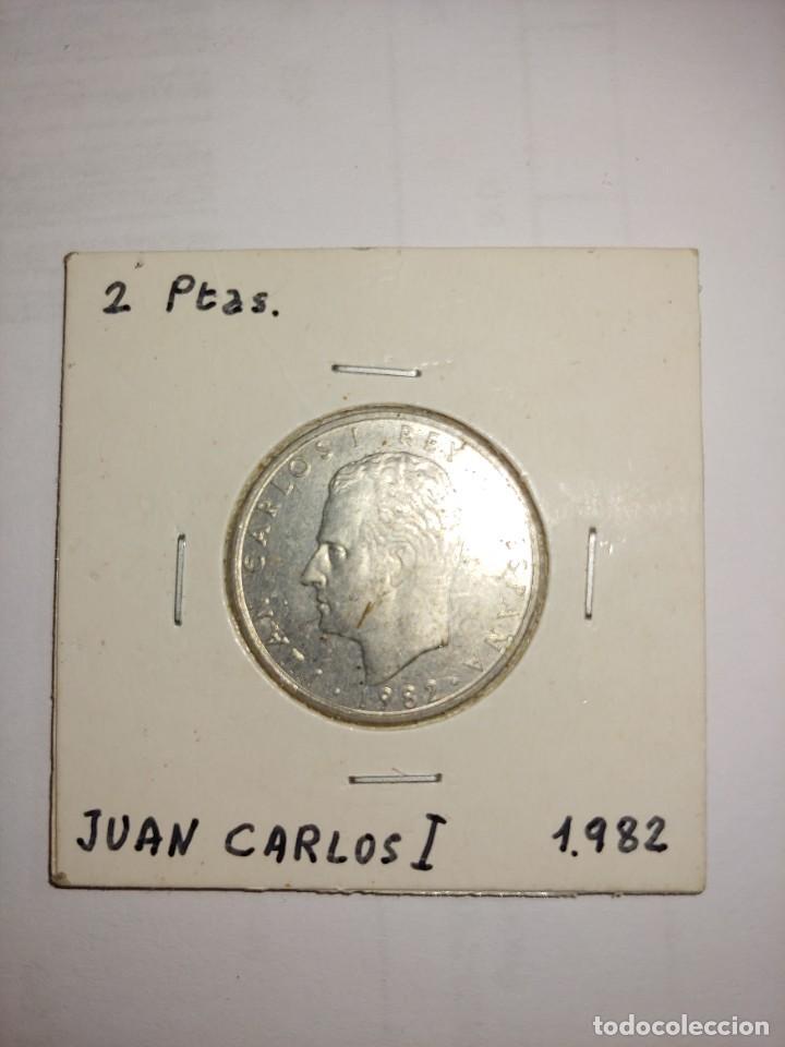 MONEDA DE JUAN CARLOS I 2 PESETAS DEL AÑO 1982 (Numismática - España Modernas y Contemporáneas - Juan Carlos I)