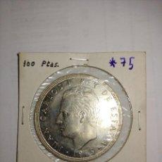 Monedas Juan Carlos I: MONEDA DE JUAN CARLOS I 100 PESETAS DEL AÑO 1975 ESTRELLA 75. Lote 288963268