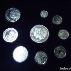 Monedas Juan Carlos I: COLECCIÓN DE LAS ÚLTIMAS PESETAS EN PLATA (925) EN ESTUCHE +REGALO COLECCIÓN DE LAS ÚLTIMAS PESETAS. Lote 288981818