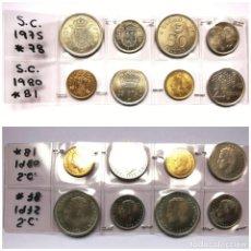 Monedas Juan Carlos I: ⚜️ A2318. SERIES COMPLETAS DE 1975 *78 Y 1980 *81. Lote 289849528