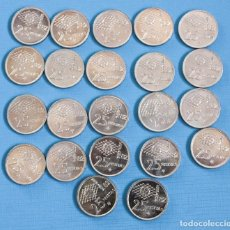 Monedas Juan Carlos I: LOTE 22 MONEDAS DE 25 PTAS, DE 1980 82*, JUAN CARLOS, EN PERFECTO ESTADO. Lote 292352753