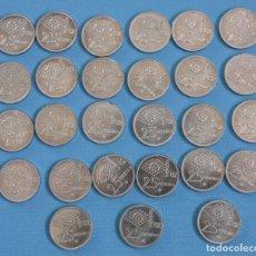 Monedas Juan Carlos I: LOTE 27 MONEDAS DE 25 PTAS, DE 1980 81*, JUAN CARLOS, EN PERFECTO ESTADO. Lote 292353143