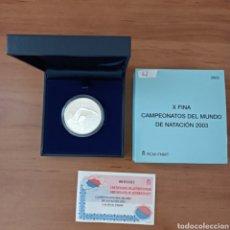 Monedas Juan Carlos I: ESPAÑA 10 EUROS 2003 CAMPEONATOS DEL MUNDO DE NATACION MONEDA DE PLATA ESTUCHE Y CERTIFICADO. Lote 293896533