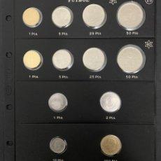 Monedas Juan Carlos I: CMC JUAN CARLOS I PESETAS MUNDIAL FUTBOL 1980 (81-82) 1982 + HOJA PARDO Nº 25 SC. Lote 293957978