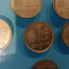 Monedas Juan Carlos I: 1 PESETA MUNDIAL ESPAÑA 1982. GRABADA EN 1980.. Lote 295872348