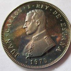 Monedas Juan Carlos I: JUAN CARLOS I . MAGNIFICA MEDALLA DE PLATA PURA DEL AÑO 1975 . SUPER BELLA. Lote 295978233