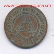 Monedas locales: COOP.OBRERA MANRESANA- 1 PESETA. Lote 952094