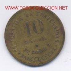 Monedas locales: COOP. LA FRATERNIDAD-10 CENTIMOS. Lote 952211