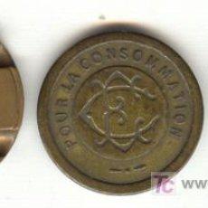 Monedas locales: TRES FICHAS A CLASIFICAR DOS SON MUY ANTIGUAS DOS SON FICHAS DE TELÉFONO. Lote 27300079