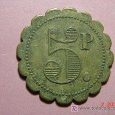 Monedas locales: 1842 FICHA COOPERATIVA CASINO TOKEN PRINCIPIOS SIGLO XX COSAS&CURIOSAS. Lote 6280124
