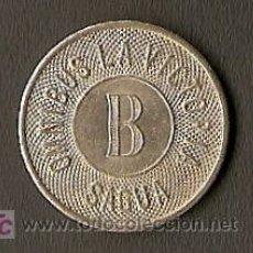 Monedas locales: FICHA DE OMNIBUS (AUTOBUS) AÑOS 50 DE SAGUA (CUBA). Lote 26666067