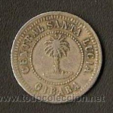 Monedas locales: FICHA DE INGENIO - VALE POR UNA RACION - 1884 - GIBARA - CUBA. Lote 26801985