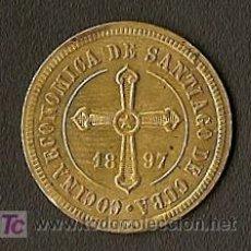 Monedas locales: FICHA DE 1 CENTAVO - COCINAS ECONOMICAS - SANTº DECUBA - EPOCA COLONIAL ESPAÑOLA. Lote 25015354