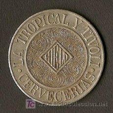 Monedas locales: FICHA PARA HIELO - FABRICAS DE CERVEZA TROPICAL Y TIVOLI - HABANA - CUBA. Lote 27625731