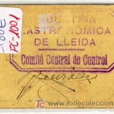 Monedas locales: (FC-1001)VALE 50 CTS.INDUSTRIA GASTRONOMICA SOCIALITIZADA DE LLEIDA-GUERRA CIVIL. Lote 5220811