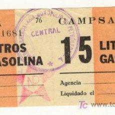 Monedas locales: GUERRA CIVIL VALE DE 15 LITROS GASOLINA BARCELONA CATALUÑA CATALUNYA Nº01681. Lote 22152271