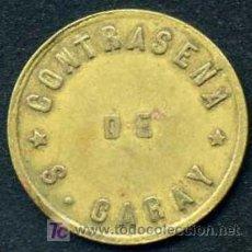Monedas locales: FICHA DE 5 CENTAVOS - S.GARAY - VILLA CLARA - CUBA . Lote 26528600