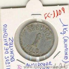 Monedas locales: (FC-1109)FICHA 1 KG.ALMODOVAR DEL CAMPO(CIUDAD REAL)-HIJOS DE ANTONIO BENITEZ. Lote 6454074