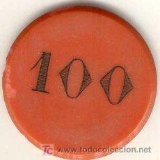 Monedas locales: (FC-1147)FICHA 100 PTS.CASINO CIRCULO ECUESTRE?PRINCIPIOS DE SIGLO. Lote 107384410