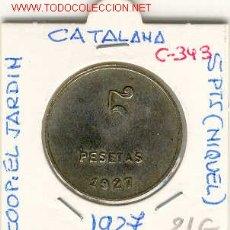 Monedas locales: FICHA COOP. EL JARDIN,POBLE NOU 5PTS. Lote 1070436