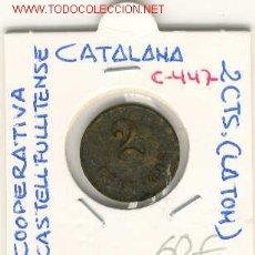 Monedas locales: FICHA COOP. CASTELL FULLITENSE 2CTS. Lote 1092459