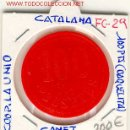 Monedas locales: FICHA (FC-29) 100 PTS.COOP.LA UNIO DE CANET DE MAR. Lote 1840043
