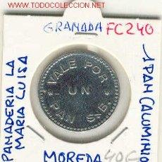 Monedas locales: (FC-240) FICHA 1 PAN PANADERIA LA MARIA LUISA DE MOREDA DE ALLER(ASTURIAS). Lote 2399224