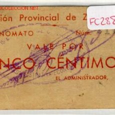 Monedas locales: (FC-288)VALE 5 CTS.PRISION PROVINCIAL DE ZARAGOZA. Lote 2409189