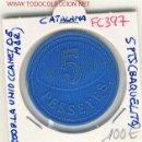 Monedas locales: (FC-397) FICHA 5 PTS.COOPERATIVA LA UNIO - CANET DE MAR. Lote 2657091
