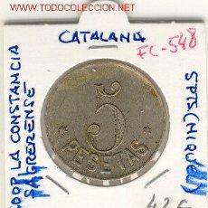 Monedas locales: (FC-548) FICHA 5 PTS.COOPERATIVA LA CONSTANCIA SAGRERENSE. Lote 2904084
