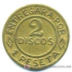Monedas locales: 2 DISCOS - 1 PESETA NAVAL (CADIZ). Lote 21218621