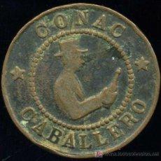 Monedas locales: FICHA PUBLICIDAD COÑAC CABALLERO Y MANZANILLA MACARENA. Lote 11378264