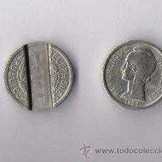 Monedas locales: REPUBLIQUE FRANCAISE 1937 **FICHA TELEFONICA P.T.T. DE TELEFONOS PUBLICOS**. Lote 12369330