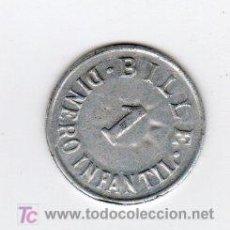 Monedas locales: BILLE 1 DINERO INFANTIL, VALOR EN JUGUETE. Lote 26353510