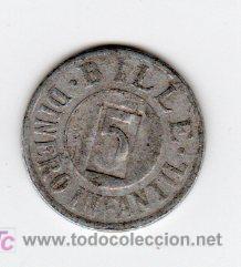 BILLE 5 DINERO INFANTIL, VALOR EN JUGUETE (Numismática - España Modernas y Contemporáneas - Locales y Fichas Dinerarias y Comerciales)