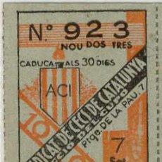 Monedas locales: (FC-1346)VALE 10 CTS.CUPO SINDICAT DE CECS DE CATALUNYA-GUERRA CIVIL. Lote 145871586