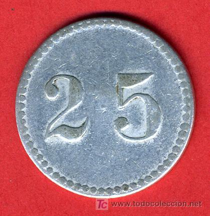 Monedas locales: FICHA PUBLICIDAD BODEGAS MONTULIA , MONTILLA CORDOBA , 25 CENTIMOS ,F574 - Foto 2 - 26128151